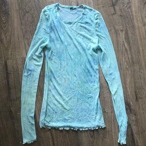UO Watercolour Dye Mesh Shirt